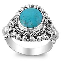 Ashley's Silver Ring with Turquoise Stone