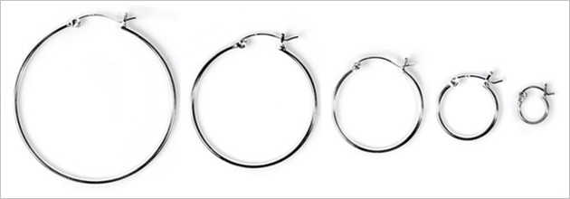 1.5mm Snap Post Hoop Earrings