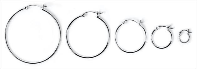 1.5mm Snap Post Hoop Earrings