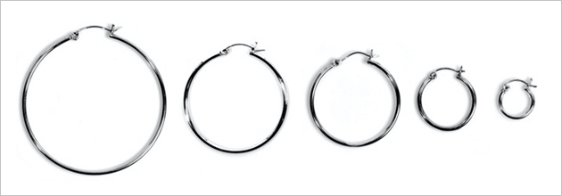 2mm Snap pOst Hoop Earrings
