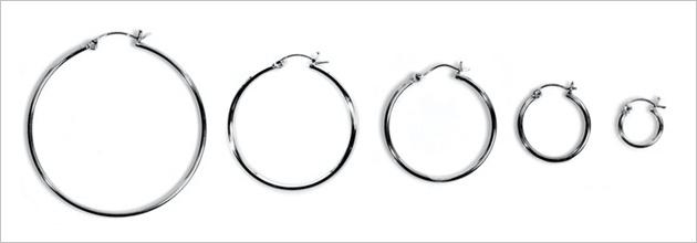 2mm Snap pOst Hoop Earrings