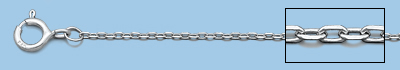 Rhodium Cable Chain